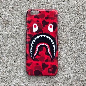 Accessories - Brand New Red Bape Shark Phone Case iPhone/Samsung